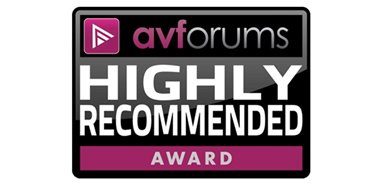 AVForums Highly Recommended Award