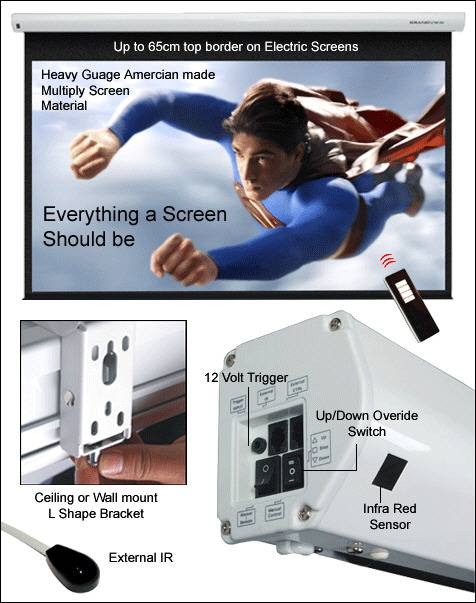 Grandview Cyber Series Electric IR And 12v 6 0FT Screen