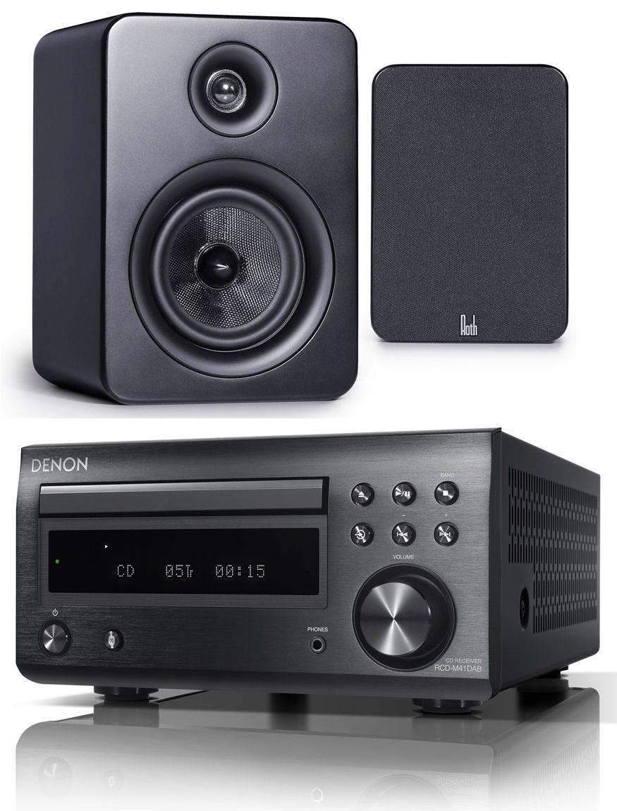 DM41DAB BLACK//ROTH RA1 BLACK Denon DM41DAB inc Roth OLi RA1 Speakers