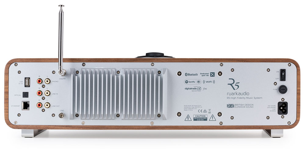ruark Audio R5 Inputs and Outputs