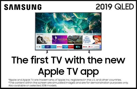 2019 Samsung QLED Apple TV