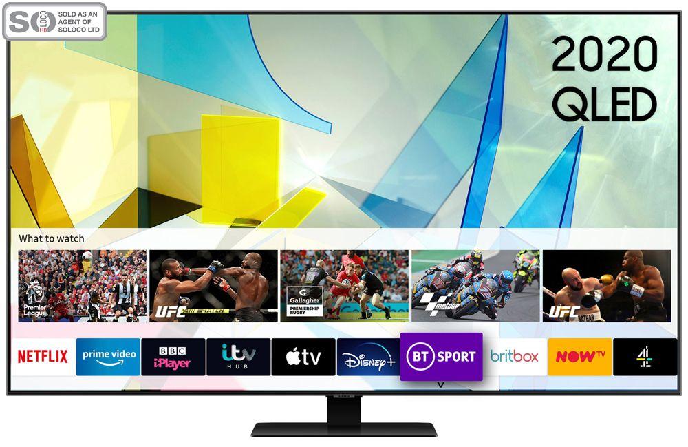 Samsung QE65Q80T 65 Inch QLED 4K Ultra HD HDR Smart Television