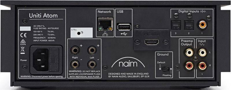 Naim Uniti Atom All In one System Inputs