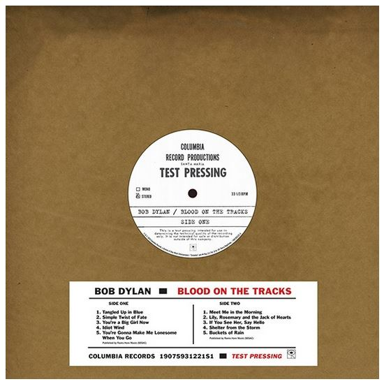 Bob Dylan - Blood On The Tracks - Original New York Test Pressing