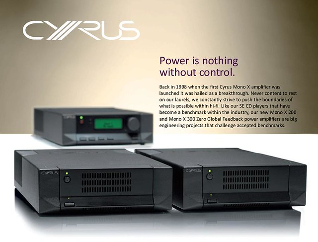 Cyrus X200 & X300 Mono Power Amplifiers