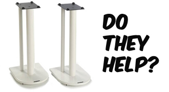 do speaker stands help