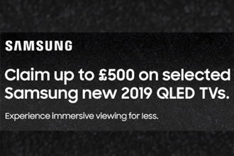 Samsung 4k Cash Back TV promotion